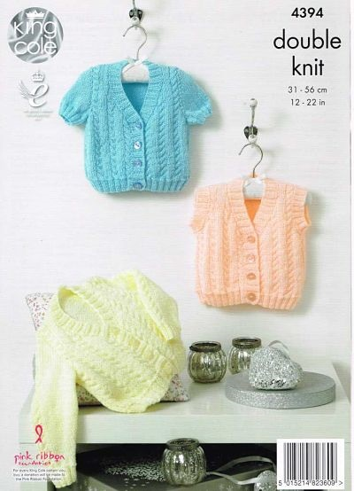 NEW OUT KING COLE BABY DK KNITTING PATTERN 4394