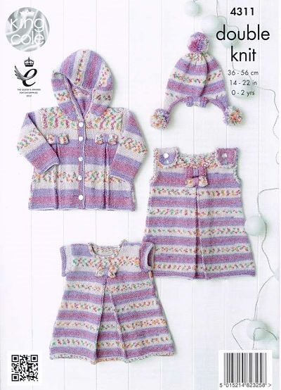 New Out King Cole Drifter For Baby Dk Knitting Pattern 4311