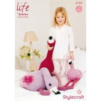 NEW OUT STYLECRAFT FLAMINGO KNITTING PATTERN DK,ARAN,CHUNKY