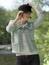 JAMES BRETT LADIES ARAN CARDIGAN KNITTING PATTERN JB043
