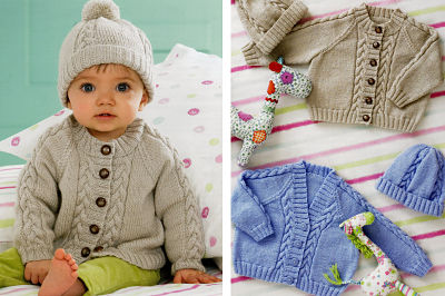 JAMES BRETT BABIES 4PLY KNITTING PATTERN (JB125)