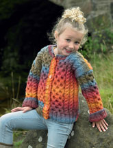 JAMES BRETT CHILDRENS CHUNKY CARDIGAN PATTERN JB280