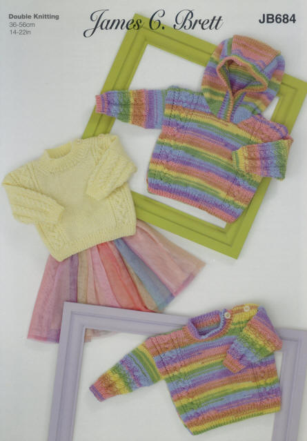 JAMES BRETT BABIES KNITTING PATTERN (JB684)