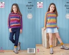 KING COLE BRAMBLES SWEATER AND HOODIE KNITTING PATTERN ( 5645)