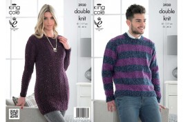 KING COLE DK JUMPER AND TUNIC KNITTING PATTERN 3930