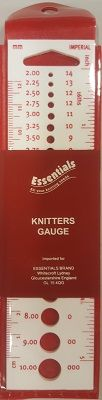 WHITECROFT KNITTING NEEDLE GAUGE