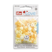 Prym Love Lemon Mix ColorSnaps 12.4mm Diameter Round Non-Sew Snap Fasteners (30pc)