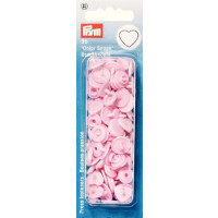 Prym Pale Pink ColorSnaps Heart Shape Non-Sew Snap Fasteners (30pc)