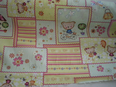 TEDDY BEAR CHILDRENS/BABIES POLYCOTTON FABRIC 56 INCHES WIDE PRICE PER METRE