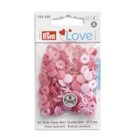 Prym Love Pink Mix ColorSnaps 12.4mm Diameter Round Non-Sew Snap Fasteners (30pc)