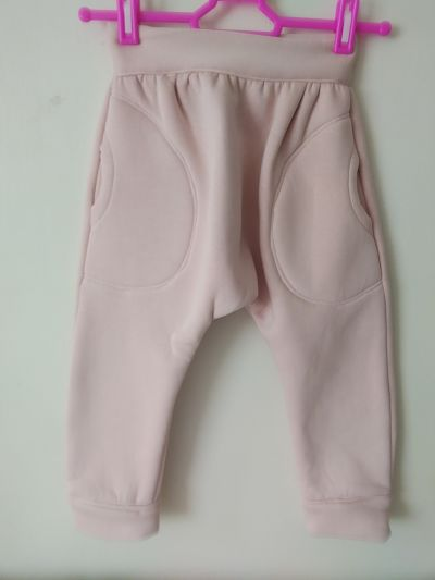 LOVELY GIRLS HANDMADE PINK HAREM TRACKSUIT BOTTOMS AGE 3/4 YEARS