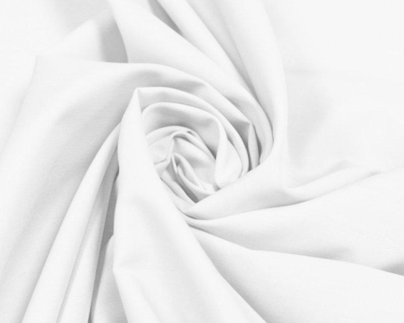 PLAIN WHITE POLYCOTTON FABRIC - 112CMS WIDE - PRICE PER METER