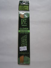 CLOVER BAMBOO DOUBLE POINTED NEEDLES 2.25CM
