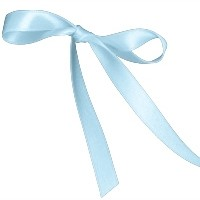 BERTIE BOWS DOUBLE FACED SATIN RIBBON 15MM LIGHT BLUE