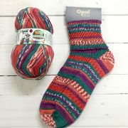 OPAL SCHAFPATE 10 4PLY SOCK WOOL NADINE ROCKS THE DANCE FLOOR (9601)