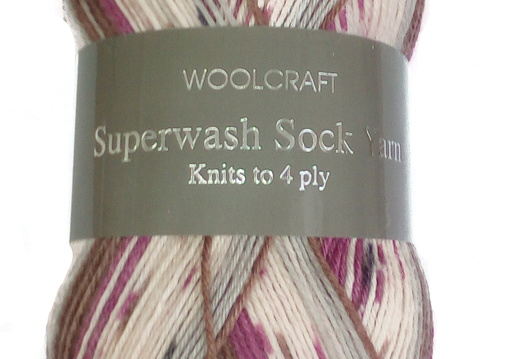 WOOLCRAFT 4PLY SUPERWASH SOCK WOOL 100 GRAM BALL MILANO