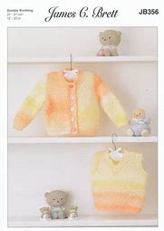 JAMES BRETT BABIES DK KNITTING PATTERN (JB356)