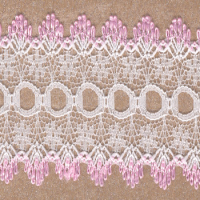 DOVECRAFT KNIT IN LACE WHITE/PINK